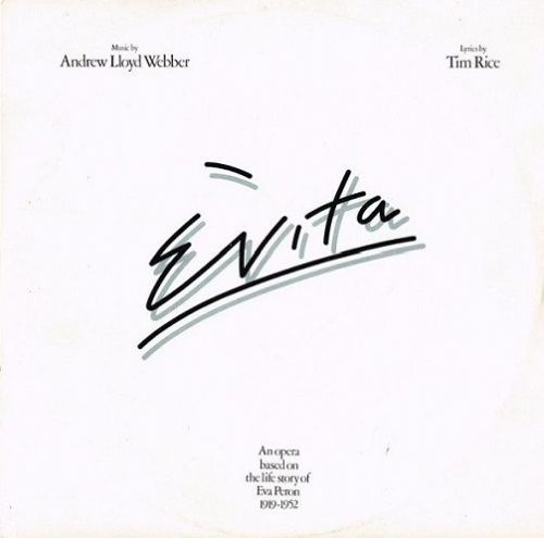 ANDREW LLOYD WEBBER AND TIM RICE Evita Vinyl Record LP MCA 1976